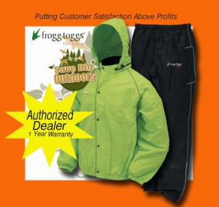 XL Frogg Frog Toggs Road Toad Motorcycle gear rain suit