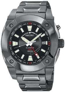 Seiko Mens Kinetic SUN007 100M GMT PVD Indicator Watch