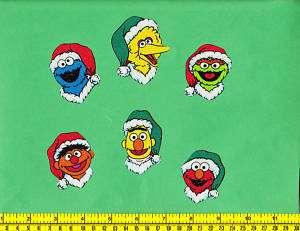 Sesame Street Christmas Fabric Iron Ons Appliques 6