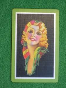 WILSON HAMMELL ART DECO FLAPPER 1930s PINUP GIRL PLAYING CARD