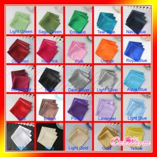 120 Satin Cloth Napkin or Pocket Handkerchief 12 Square Multi Purpose