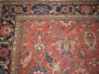 Antique Sultanabad Hand Knotted Persian Rug B 7355