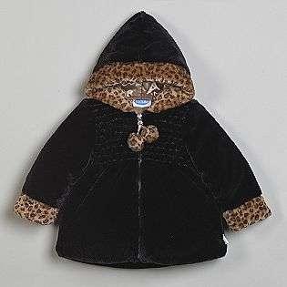 Toddler Girls Faux Fur Hooded Jacket  Bon Bebe Baby Baby & Toddler