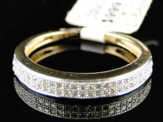 10k LADIES DIAMOND ANNIVERSARY WEDDING BAND RING 1/4 CT
