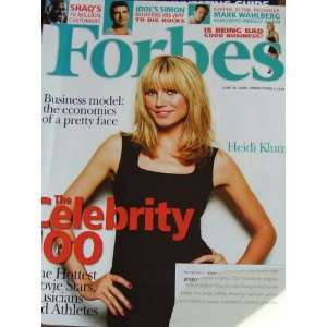 Forbes Magazine June 30 2008 Heidi Klum the Celebrity 100