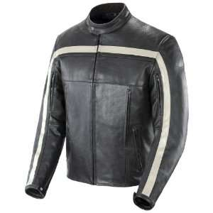JOE ROCKET OLD SCHOOL LEATHER JACKET BLACK LG Automotive