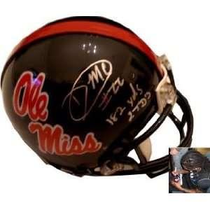 Dexter McCluster Autographed/Hand Signed Ole Miss Rebels Mini Helmet