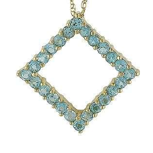 Blue Topaz Earrings. 10k Yellow Gold  Jewelry Gemstones Earrings