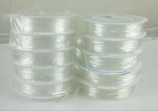 20Roll 1MM Transparent Bead Stretch Cord Wire String 1