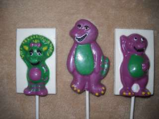 Decal 3 Round Dinosaur Barney Baby Bop Lollipops Lollipop