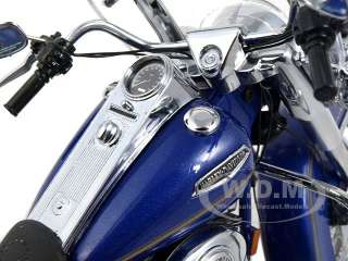 model of 1999 Harley Davidson Road King Classic Blue by Franklin Mint