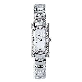 Bulova Ladies Swarovski Crystal Watch Watch With Pink Pearlized