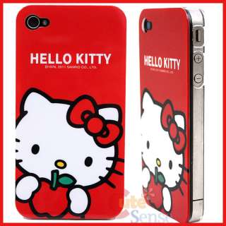 Sanrio Hello Kitty i Phone 4G Case  Hard Red Apple