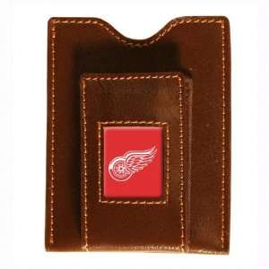 Red Wings Brown Leather Money Clip & Card Case