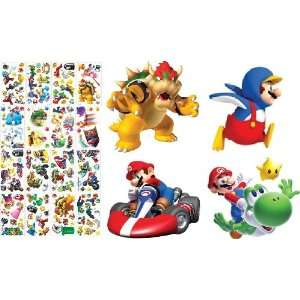 Nintendo Super Mario Wii Room Decorator Kit Over 150 Pieces   Giant