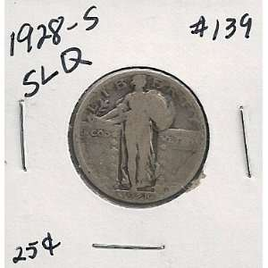 1928 S Standing Liberty Quarter in 2x2 coin holder #139