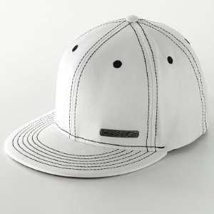 Tony Hawk® White Baseball Cap with Black Stitching & Silver Metal