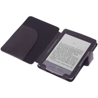 Black PU Leather Folio Cover Case Pouch for  Kindle 4 4th