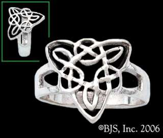 Silver Triskele Ring, Celtic Knot Ring, Celtic Jewelry, Your Size, New