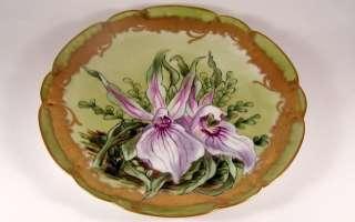 Antique HAVILAND Limoges Art Nouveau ORCHID Plate