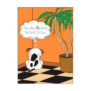 he toilet, its fine dog cartoon fridge magnet: Everything Else