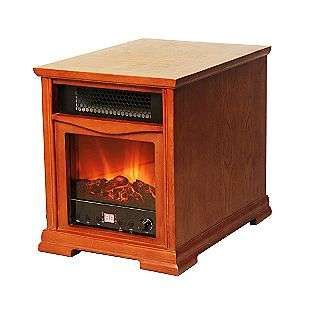 1600 Square Foot Quartz Infrared Heater w/Fireplace Front  Lifesmart