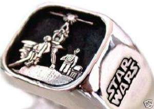 Solid Sterling Silver 925 STAR WARS Ring