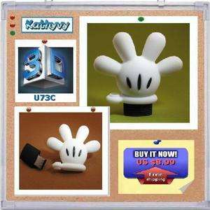 4GB USB Disney Mickey Glove Hand Flash Drive Memory Stick Keychain Pen