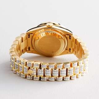 Mens Rolex 18K Yellow Gold Day Date President 40 CT DIAMOND Watch