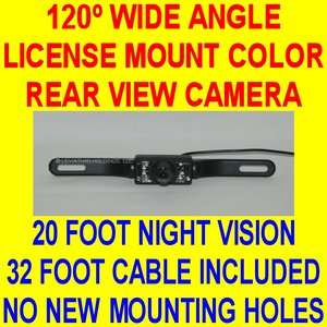 LICENSE MOUNT REAR VIEW BACKUP PLATE CAMERA TAG COLOR