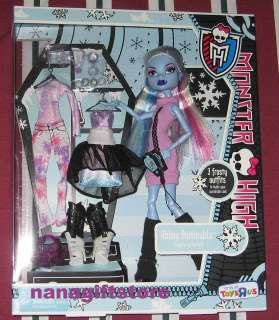 NIB Monster High Doll ABBEY BOMINABLE 3 Frosty Outfits
