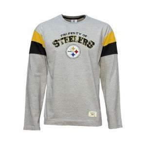 Reebok Pittsburgh Steelers Youth Ash Athletic Striped Long