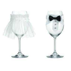 Toast to the Bride & Groom   Wine Glass Décor Kitchen
