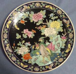 Early 20th c Hand painted Enameled Nippon Charger