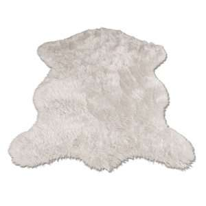 Polar Bear Pelt  Bear Collection  Faux Fur Rug  2 foot X 4 foot