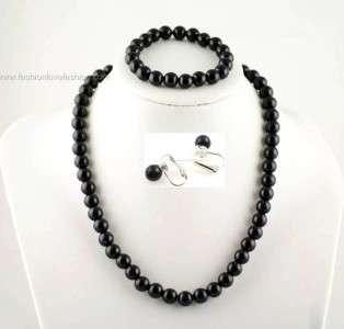 Faux Pearl SetNecklace+Bracelet+Clip On Earrings18