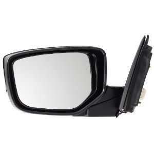 Pilot 08 10 Honda Accord Coupe Power Heated Mirror Left Black Smooth