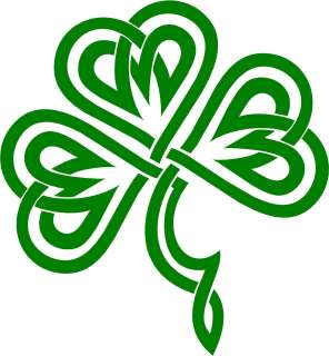 Irish Clover / Shamrock Celtic Knot Decal /Sticker  You Pick Color