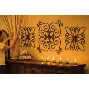 Large Rustic Iron Wall Sculpture   Curls