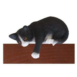Tuxedo Black/White Loafer Cat Shelf and Wall Plaque