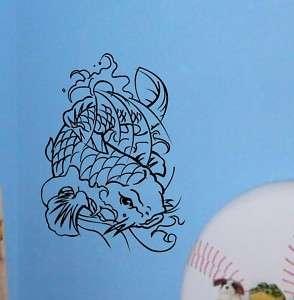 Koi Princes Gold Fish Wall Deco Art Vinyl Sticker Decal