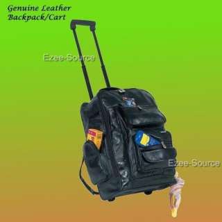 Business Travel Luggage Backpack w/ Rolling Wheels Adjustable Shoulder