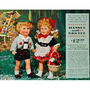 1963 Print Ad Hansel Gretel Fairy Tale German Doll NICE