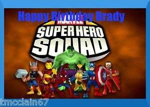 Super Hero Squad edible cake image topper  1/4 sheet