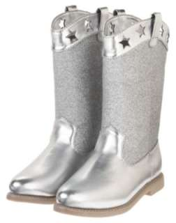 4th of JULY~STAR GLITTER~SILVER BOOTS 9~NWT~Gymboree