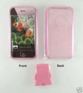 APPLE IPHONE 2G PINK HARD CRYSTAL CASE PLUS CLIP