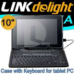 Leather Case+USB Keyboard+touch pen for 10 Tablet PC