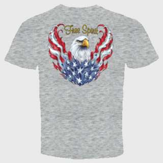 eagle spirit t shirt flag biker american motorcycle usa
