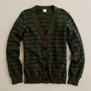 Boys stripe cotton cashmere cardigan   cotton cashmere   Boys