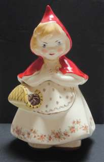 Vintage LITTLE RED RIDING HOOD COOKIE JAR   Hull Ware #967